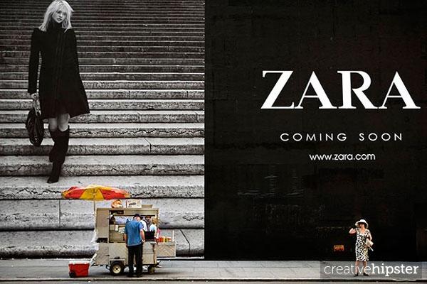 zara no advertising