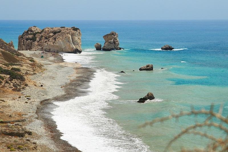 Aphrodite beach in Cyprus Island
