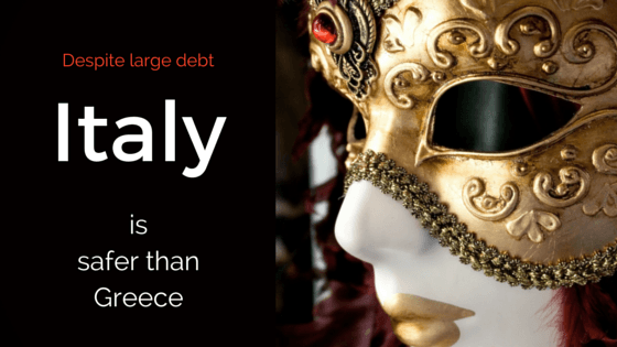 Italy is a safer financial bet than Greece