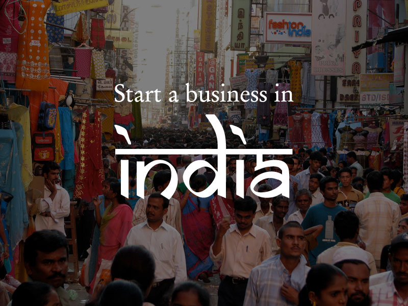 Market street in India