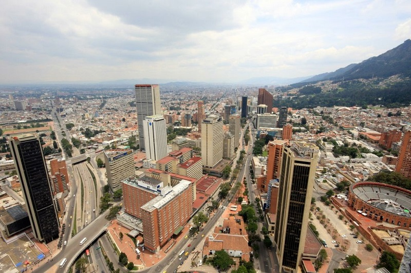 Bogotá, Capital of Colombia flaunts the country's growth.