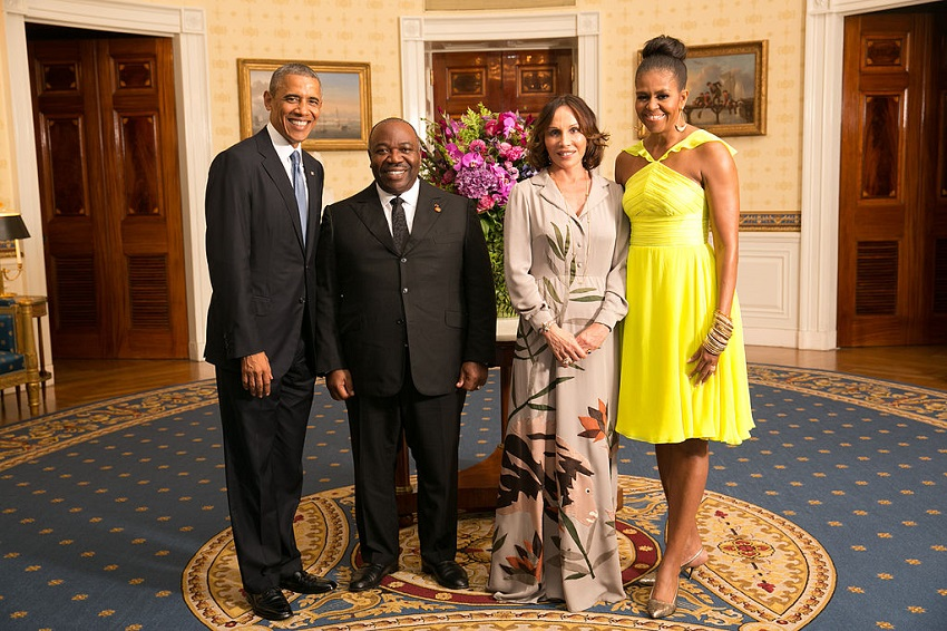 US President Barack Obama with His Excellency Ali Bongo Ondimba, President of the Gabonese Republic