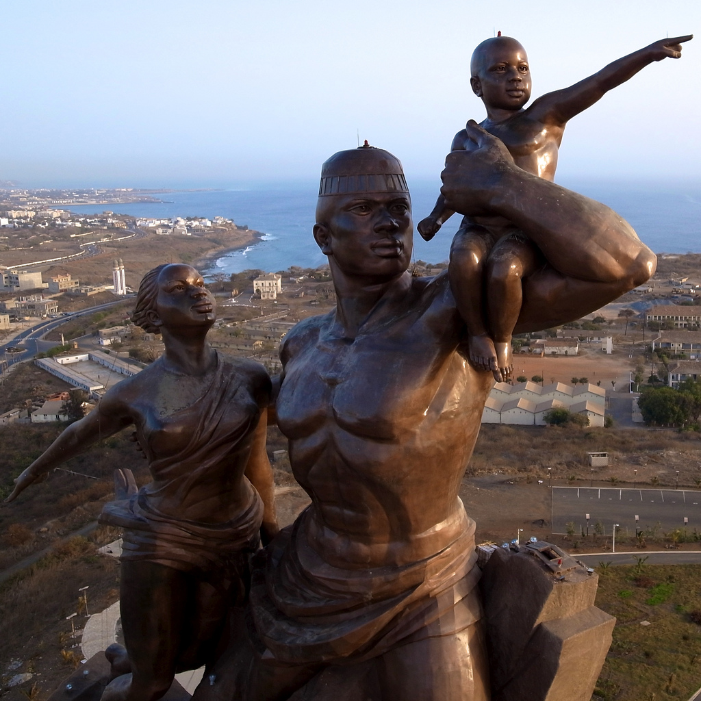 African monument in Senegal