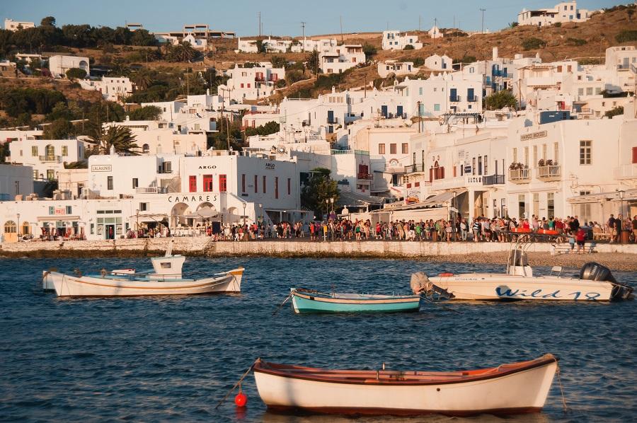 Coast of Mykonos island in Greece