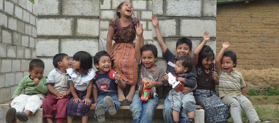 Happy children in Guatemala
