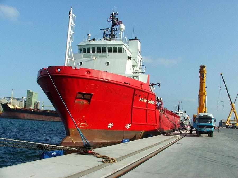 Ship in Hamriyah Port