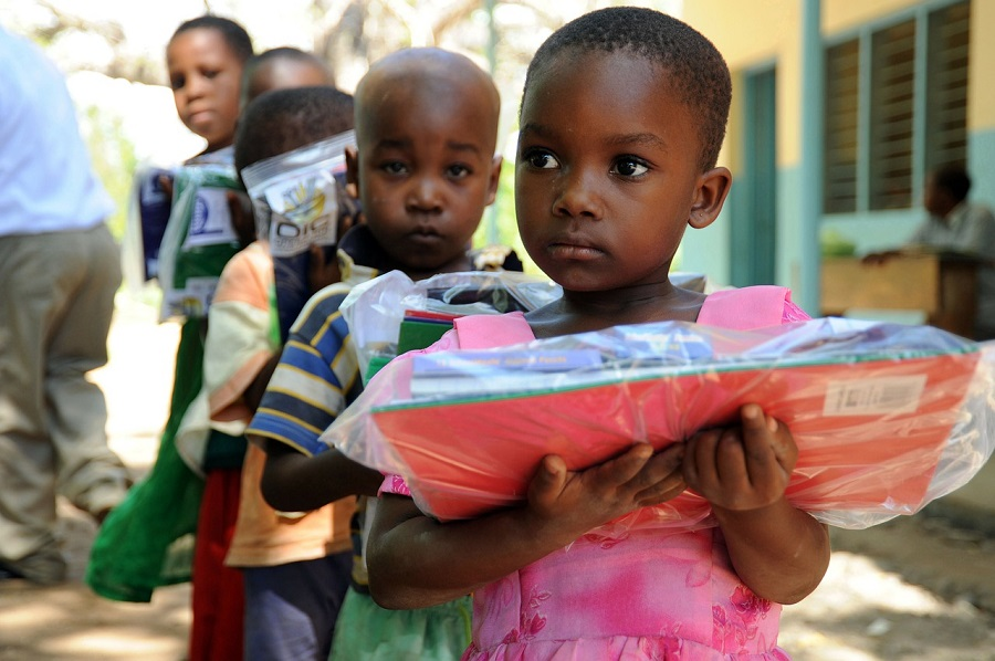 Children in Tanga, Tanzania