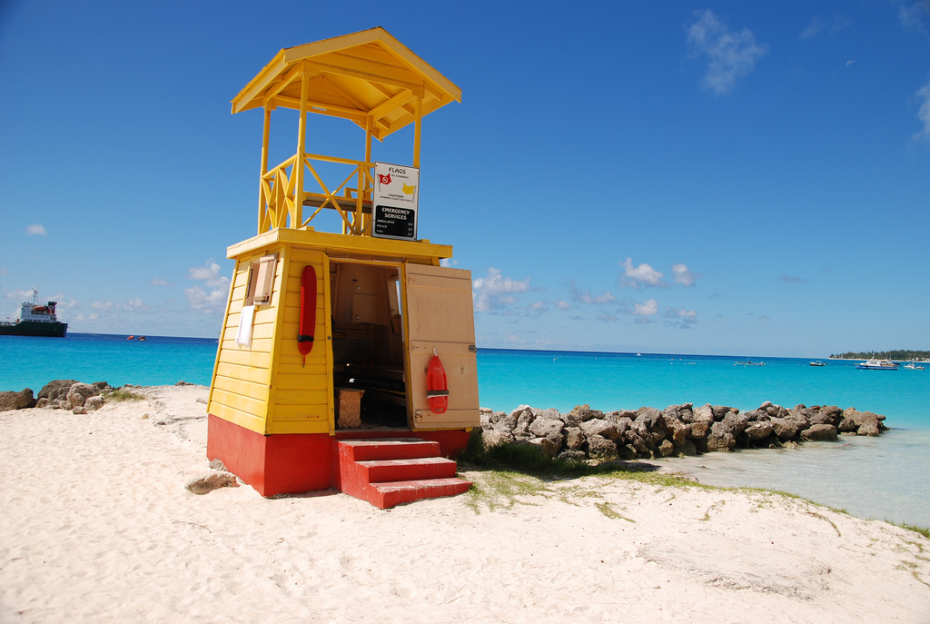 Life guard station in Miami beach, Barbados