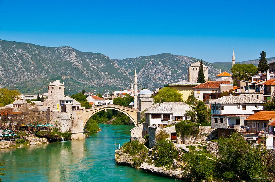 Mostar - The old bridge in BiH