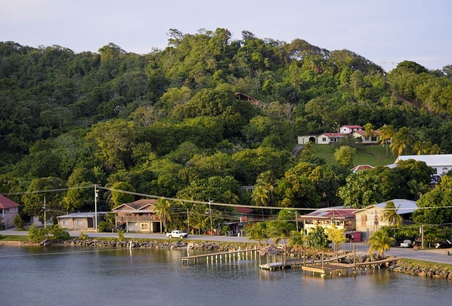 Waterfront in Roatan, Honduras