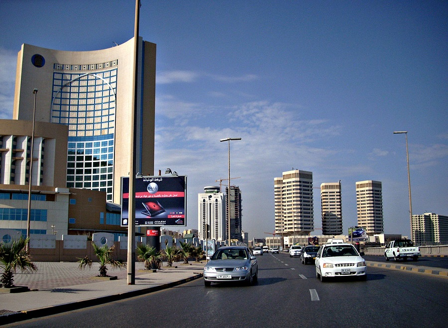 Central business district in Tripoli